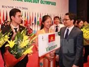 Con éxito finaliza la Olimpiada Internacional de Biología en Vietnam
