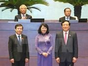 Reelegidos vicepresidenta y otros altos funcionarios de Vietnam