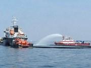 Singapur y Malasia realizar ejercicio para solucionar derrame químico en el mar