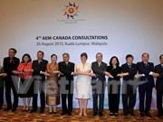 ASEAN y Canadá inician diálogo anual sobre políticas comerciales