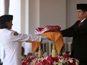 Bandera original de Indonesia desfilada por primera vez desde la independencia