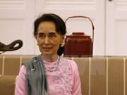 Asesora de Estado de Myanmar visita China