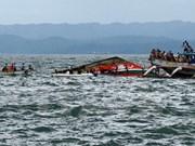 Suman 15 los cadáveres encontrados tras naufragio en Indonesia