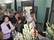 Líder parlamentaria rinde homenaje al presidente Ho Chi Minh