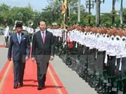 Presidente de Vietnam dialoga con sultán de Brunei