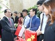 Presidente de Vietnam culmina primer día de actividades en visita estatal a Singapur