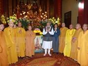 Premier indio se reúne con budistas vietnamitas