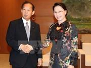 Presidenta parlamentaria recibe al secretario general del PLC