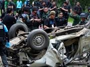 Tres policías muertos por explosión en sur de Tailandia