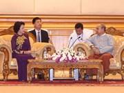 Presidenta del Parlamento de Vietnam ratifica voluntad de promover nexos con Myanmar