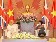 Presidenta del legislativo de Vietnam recibe a dirigente parlamentaria británica