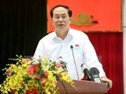 Presidente de Vietnam sostiene contactos con votantes en Ciudad Ho Chi Minh