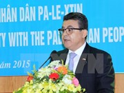 Presidente vietnamita reitera el apoyo a la causa palestina
