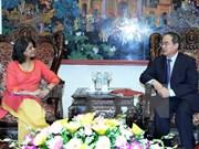 Recibe dirigente vietnamita a representante residente de ONU