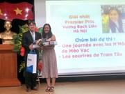 Reportera de VNA gana primer premio de escritura francesa