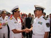 Khanh Hoa recibe buques de fuerzas navales de China