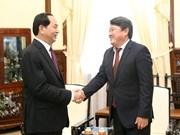 Presidente vietnamita elogia esfuerzos de embajador mongol en fomento de nexos bilat