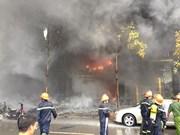 Grave incendio en Hanoi