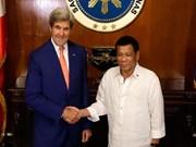 John Kerry confía en futuro de relaciones Estados Unidos-Filipinas