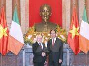 Visita del presidente irlandés insufla nuevo aliento a cooperación con Vietnam