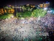 Luz azul se enciende en Hanoi por Día Mundial de Diabetes