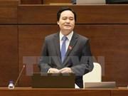 Ministro de Educación y Formación rinde cuentas ante Parlamento