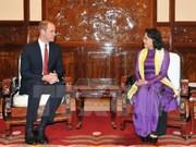 Reino Unido es socio importante de Vietnam, dice vicepresidenta