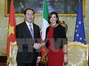 Presidente de Vietnam sugiere aprobación por Italia del TLC con UE