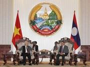 Vietnam y Laos buscan impulsar relaciones bilaterales