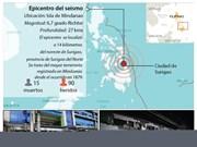 [Infografía] Terremoto deja 15 muertos en Filipinas