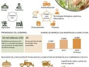 [Infografia] Desarrollo de agricultura de alta tecnología en Vietnam