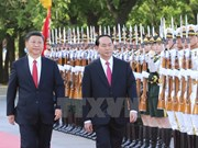 Actividades del presidente vietnamita en China
