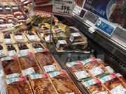 Pescado Tra entre productos de calidad superior en supermercados de Japón