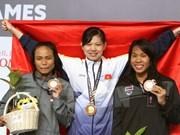"""[Fotos] """"La chica de oro"""" Nguyen Thi Anh Vien y dos récords en SEA Games"""