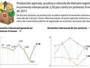 [Infografía] Producción agrícola, acuatice y silvícola de Vietnam registró incremento interanual de 2,78 por ciento