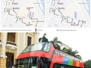 Hanoi pone a prueba autobuses turísticos de dos pisos