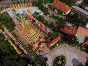 El templo Khmer de Monivongsa Bopharam en Ca Mau