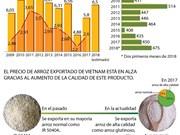 [Infografía] Vietnam podrá exportar 6,5 millones de toneladas de arroz en 2018