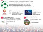 Cinco eventos deportivos más esperados de Vietnam en 2018