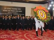 Dirigentes y ciudadanos vietnamitas rinden homenaje póstumo al extinto primer ministro Phan Van Khai
