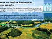 [Info]Reconocen a Non Nuoc Cao Bang como geoparque global