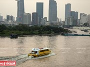 [Fotos] Primer servicio de autobús fluvial lanzado en Ciudad Ho Chi Minh