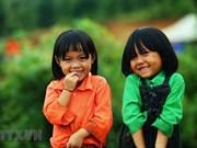 [Foto] Sonrisas inocentes de niños residentes en áreas fronterizas de Vietnam