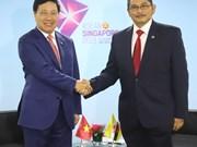 [Fotos] Vicepremier vietnamita se reúne con contrapartes de la ASEAN en Singapur