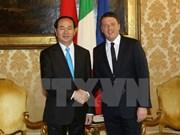 Visita a Italia del presidente de Vietnam contribuye a desarrollar nexos bilaterales