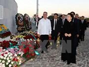 Presidenta parlamentaria de Vietnam rinde tributo póstumo a Fidel Castro