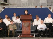 Líder parlamentaria de Vietnam asiste a acto en homenaje póstumo a Fidel