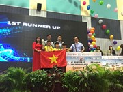 Triunfan estudiantes de Vietnam en competencia internacional de Robothon