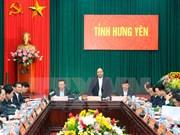 Premier urge a la provincia de Hung Yen a duplicar el número de empresas