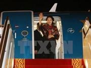 Líder parlamentaria llega a EAU para asistir a Cumbre de Presidentas de Parlamento